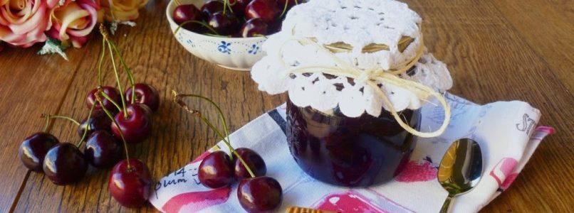 Confettura extra di ciliegie e zucchero di canna